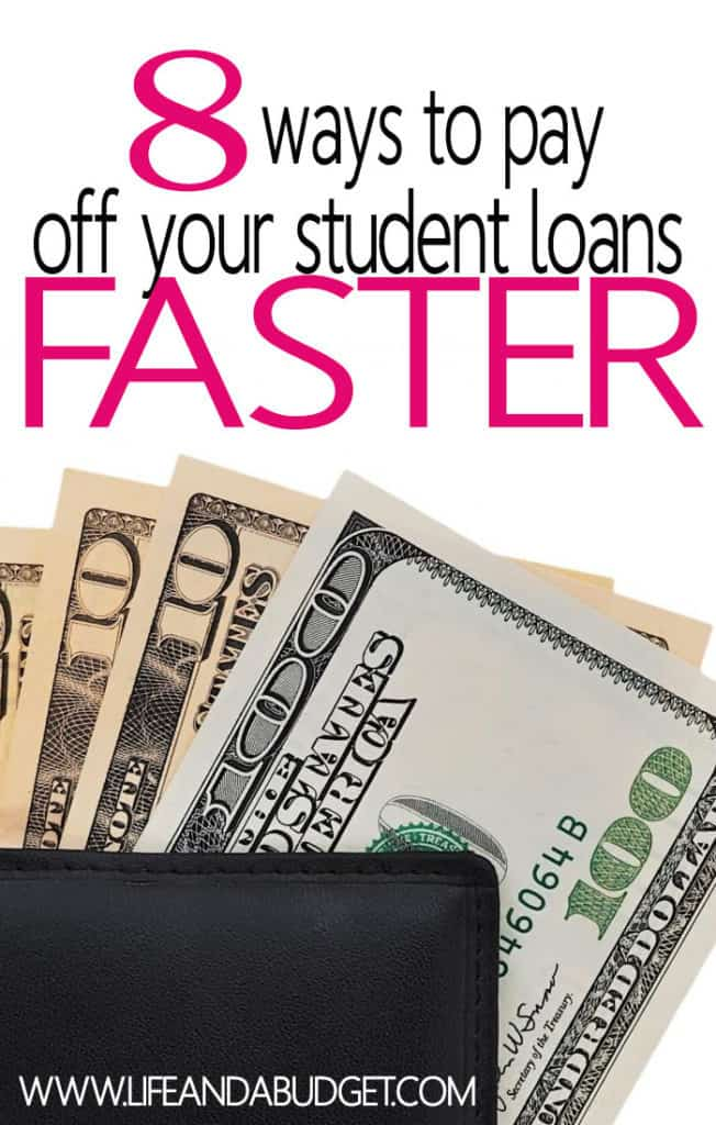 Got student loans? Who doesn't these days? Let's focus on solutions and get off of the problem. Here are 8 ways to help you pay off your student loans faster.