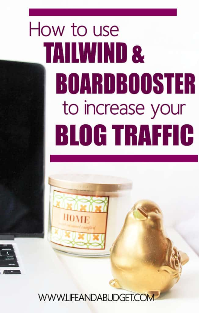 Your Pinterest scheduling doesn't have to be time consuming. You can increase your blog traffic by putting your Pinterest schedule on automatic using one or two simple tools, Tailwind and Boardbooster. Read on for how to use these tools and help grow your blog!