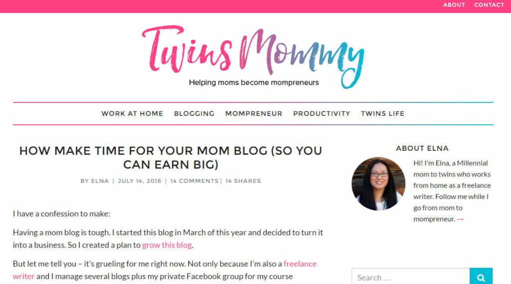 mom blogger - elna cain at twins mommy