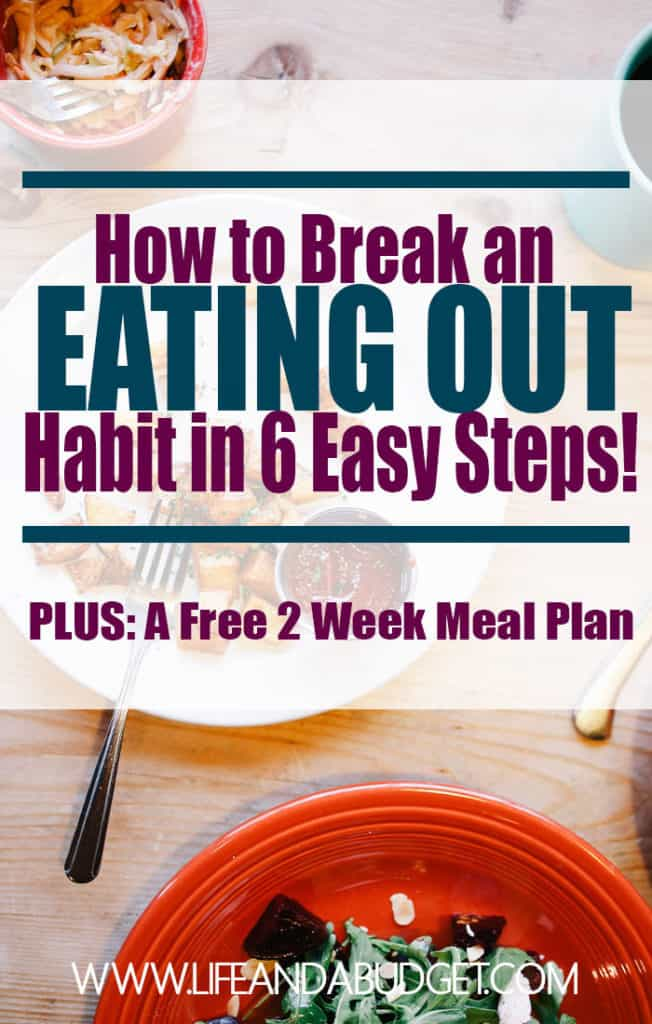 Is your eating out habit killing your budget? If so, you need a plan to help you decrease the amount you spend on dining out. Here is an easy 6 step plan to help you and a free printable meal plan. Read and download your's today!