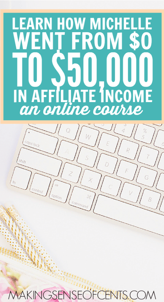 Do you want to learn how to make money with affiliate marketing on your website? Well, Michelle is the person you want to learn from because she is making over $50,000 per month.