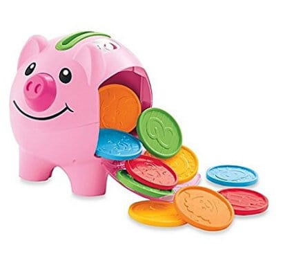 laugh and learn piggy bank gift guide for kids