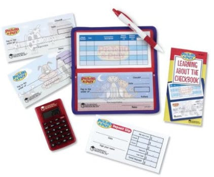 learning resources pretend and play checkbook gift guide for kids