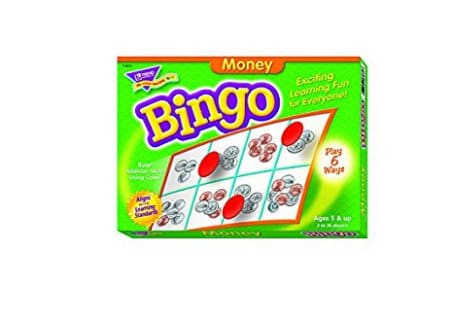 money bingo game gift guide for kids