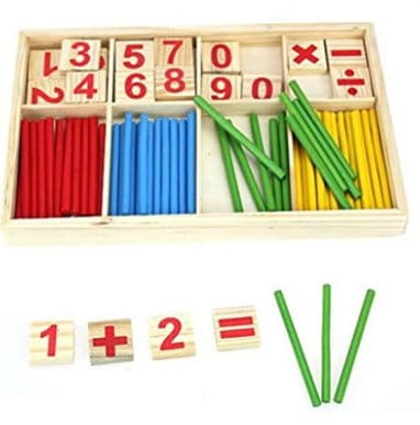 wooden mathematic counting toy gift guide for kids