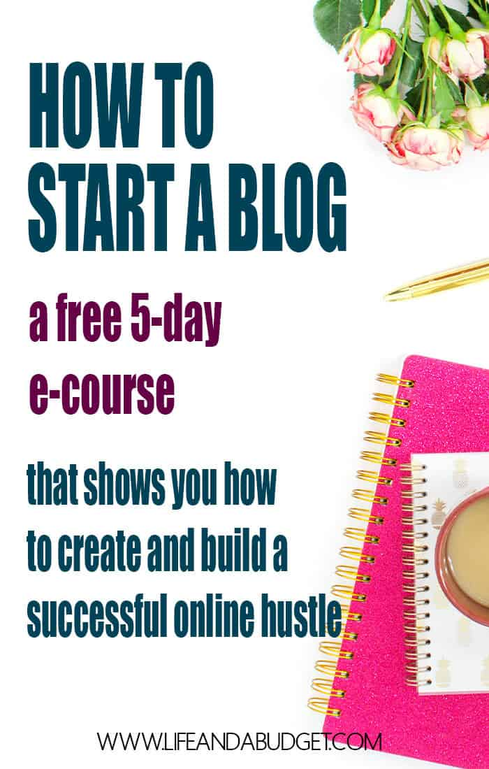 HOW TO START A BLOG E COURSE 1