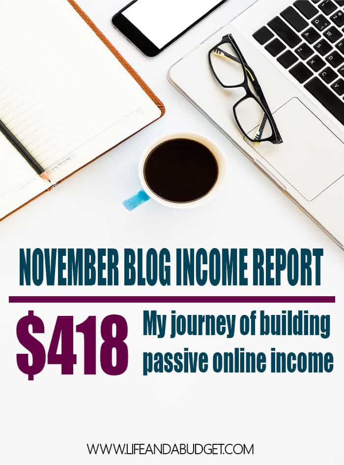 NOVEMBER 2016 ONLINE BLOG INCOME REPORT