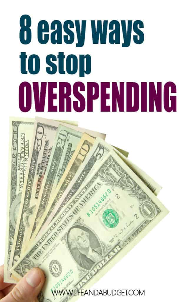 If you want to save more money and stop overspending, check out these 8 simple, yet effective tips! They really will help!