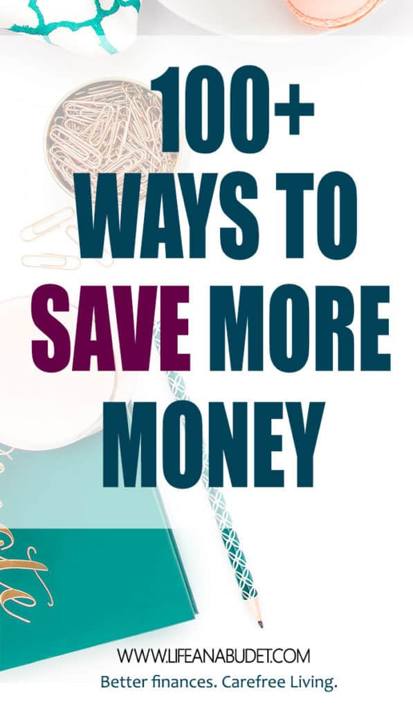 Living paycheck to paycheck. Need to learn how to save more money? Here are over 100 ideas that will help you save money today.