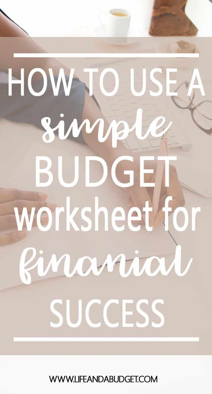 How to Use a Simple Budget Worksheet for Budgeting Success Life – Simple Budget Worksheet