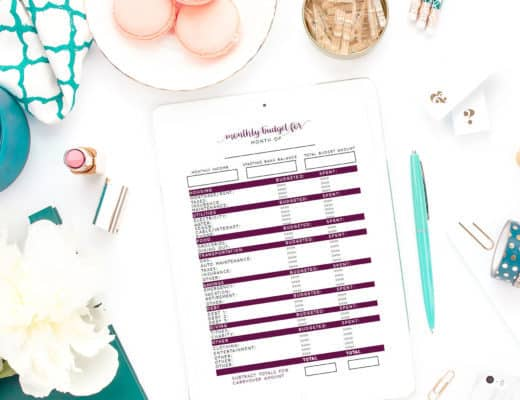 Learn how to use this free simple budget worksheet to create a budget. Part of the budgeting for beginners series. Free Budget Worksheet | Budget Worksheet Printable | Budget Worksheet For Beginners