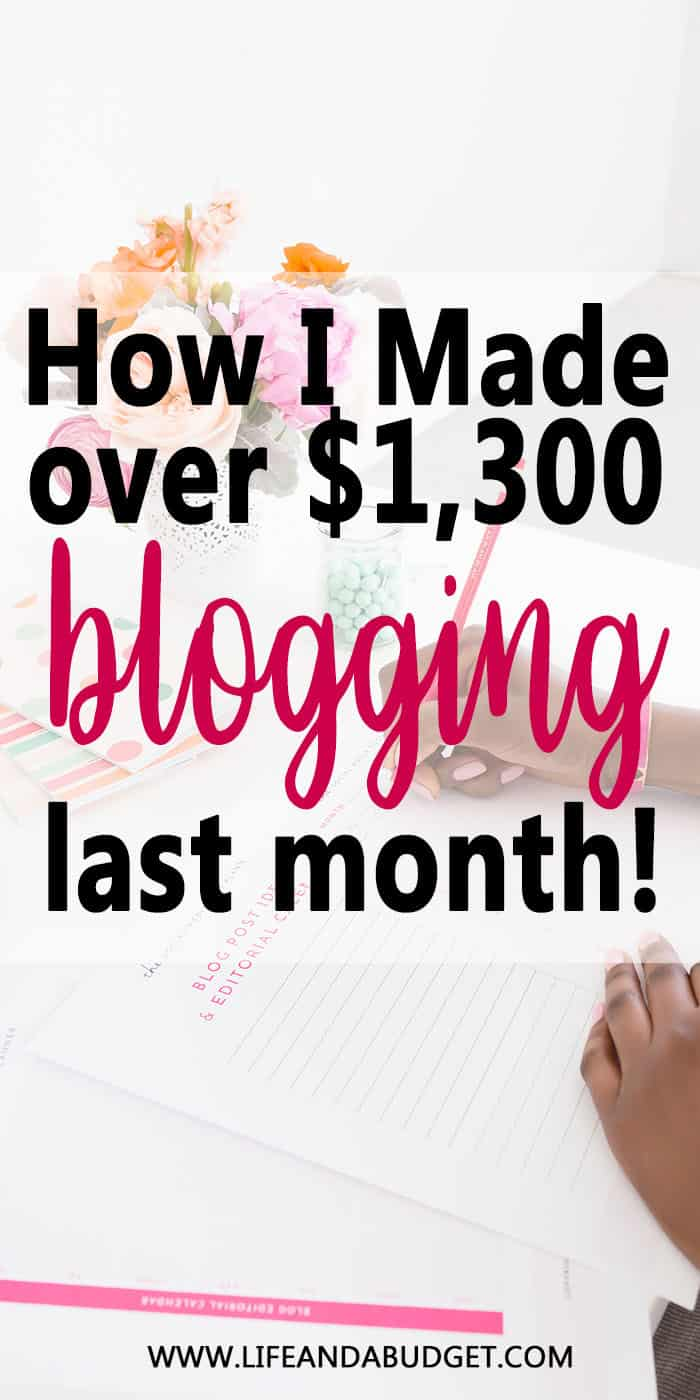 HOW I MADE OVER 13000 BLOGGING LAST MONTH