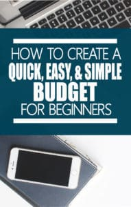 budgets quick easy simple method for beginners life and a budget