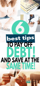 Here are 6 of the best tips to help you pay off debt and save money at the same time!