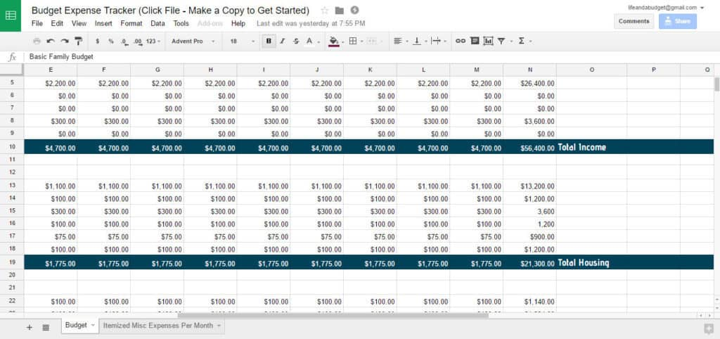 free budget spreadsheet template-total-income-and-other-total-categories