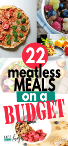 Save money on your grocery bill and try these 22 meatless meals on a budget.