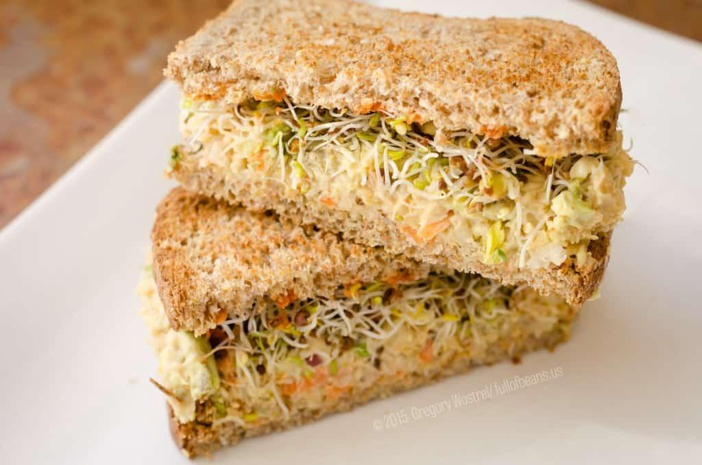 Vegan Tuna Sandwich vegan meals on a budget