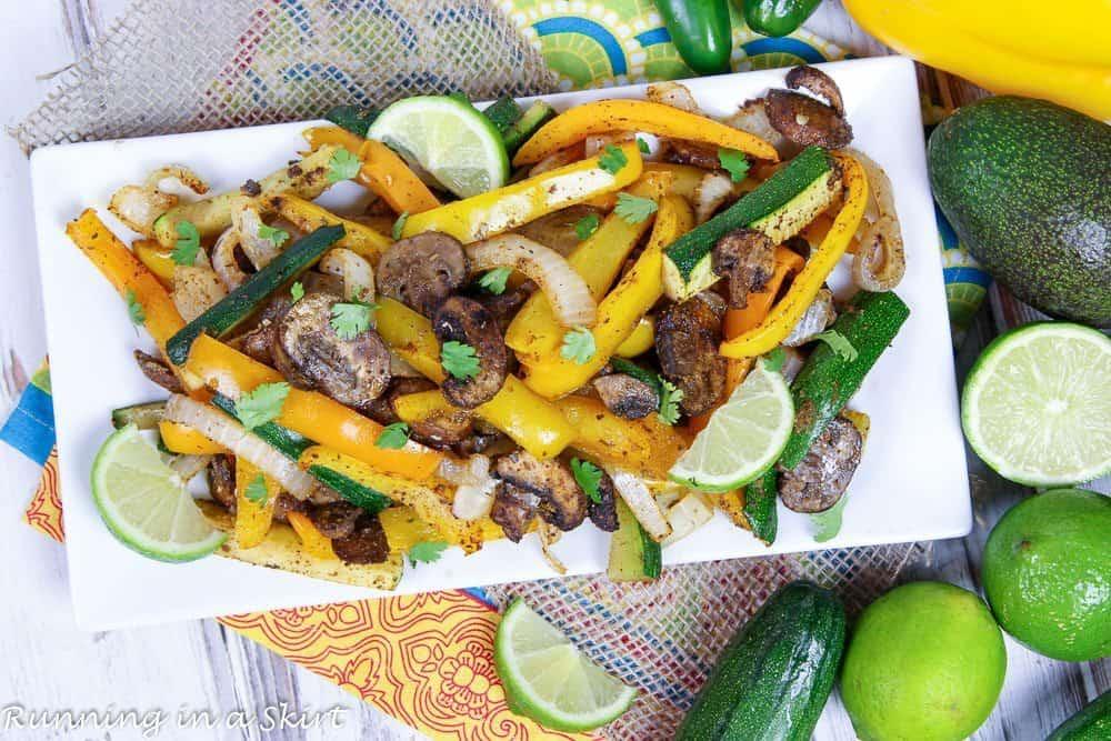 Vegetarian Oven Fajitas Meatless Meals on a budget