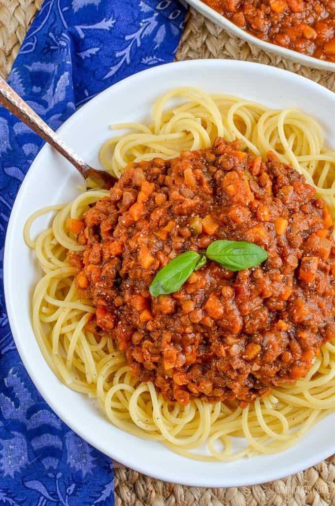 lentil bolognese meatless meals on a budget