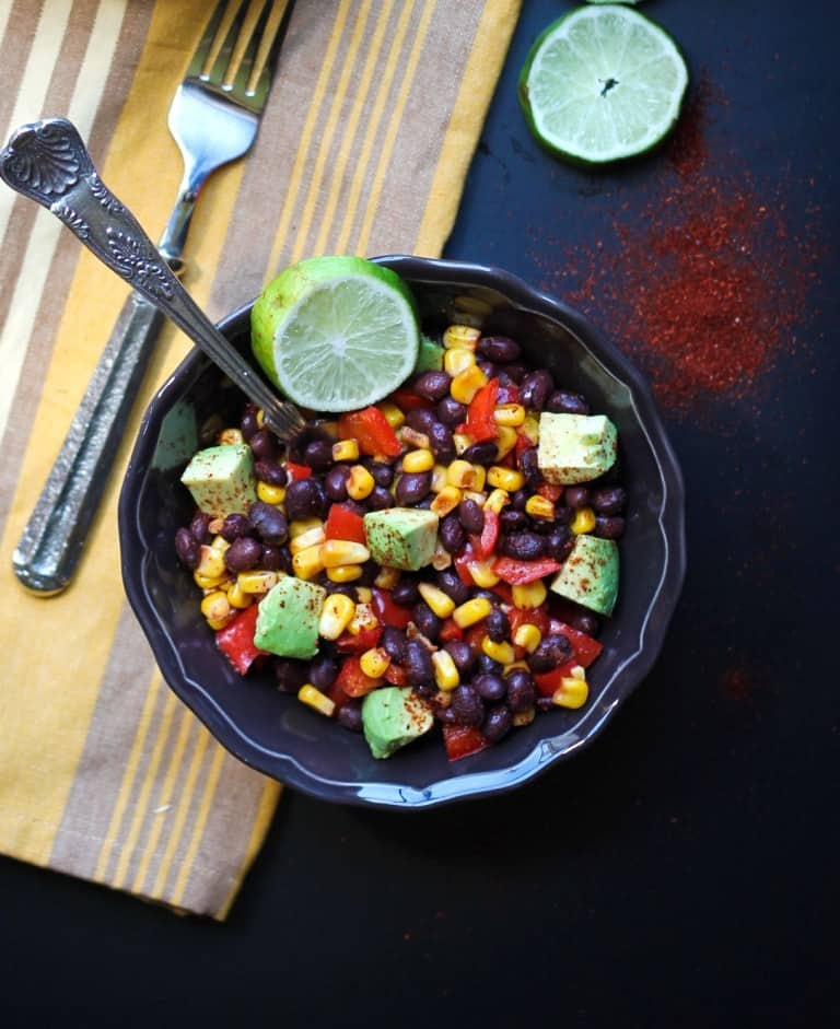southwest black bean and corn salad meatless meals on a budget
