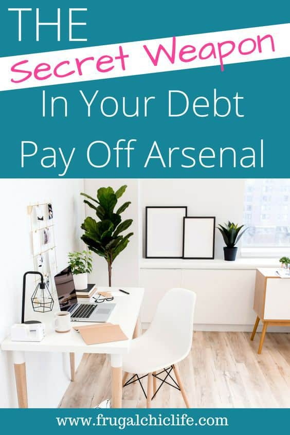 the secret weapon in your debt payoff arsenal frugal chic life