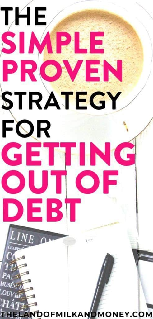 the simple strategy for getting out of debt land of milk and money