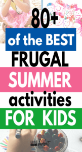 Here are over 80 of the best frugal summer activities for kids. Boredom Busters, frugal outings, family fun, and more! #frugal #summeractivities #kids #parenting