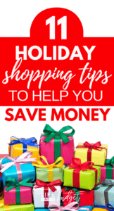 I'm so happy I know these holiday shopping tips because I'm definitely going to save money on Christmas gifts with these tips. Definitely number 5! Can't wait to start my holiday shopping and save money on gifts! #holidayshoppingtips #holidayshopping #holiday #holidays #shopping #christmasbudget #christmassavings #debtfreechristmas #savingmoney #savemore #frugalliving #frugalchristmas #frugal