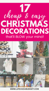 These cheap Christmas decoration ideas are absolutely frickin fantastic! You don't have to