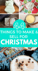 Do you need some extra cash for the holidays? Here are 44 amazingly cute things to make and sell at home for extra money this Christmas. Put your diy skills to the test and earn holiday shopping money! #crafts #sidehustles