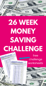 picture regarding 26 Week Money Challenge Printable identified as 26 7 days Funds Difficulty Printable - Help save $5000 or $1000!