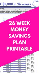 26 week money challenge 5000 pdf