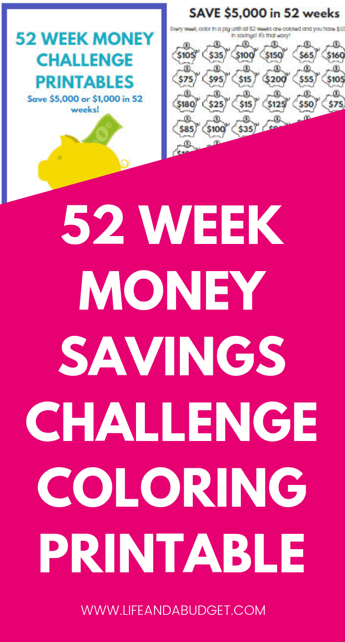photo relating to 52 Week Money Saving Challenge Printable known as 52 7 days Income Issue PRINTABLE TEMPLATES PIN B - Lifestyle and