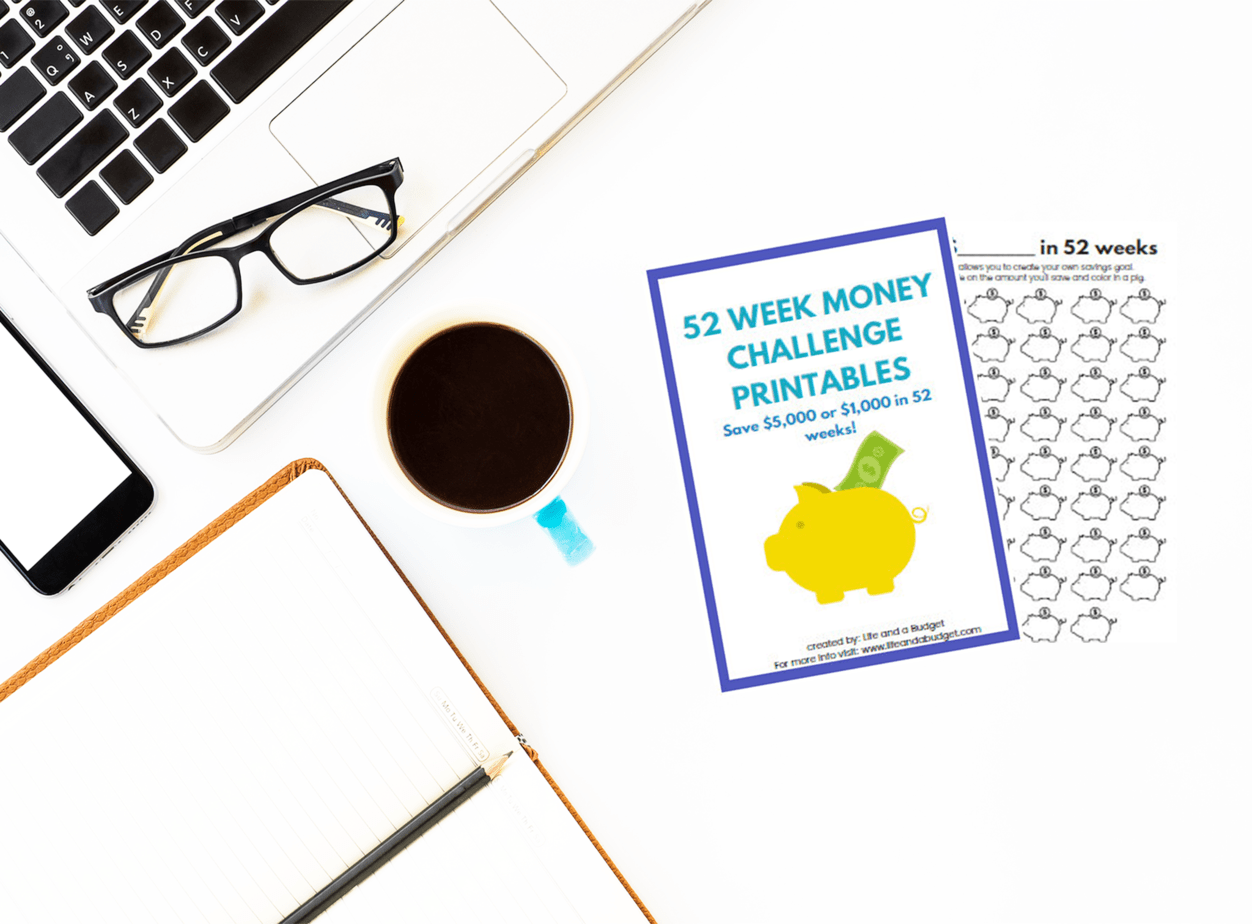 52 Week Money Challenge Template A Coloring Printable