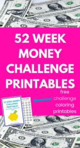 are you looking for super cute and easy printable for the 52 week money saving challenge