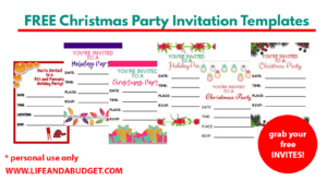 Free Christmas Party Invitation Templates Png Life And A Budget