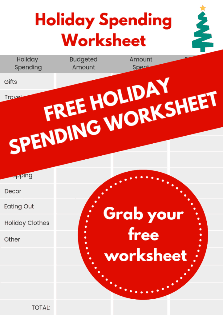 free holiday budget worksheet life and a budget