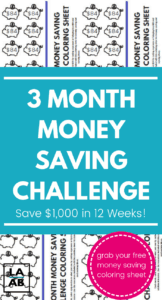 If you're low on savings, take the 3 month money challenge this year and save $1,000. Learn how to easy it can be to save $1,000 with all of these helpful tips and get a free savings plan printable. #savings #frugal #savemoney #moneychallenge #savingschallenge #2019