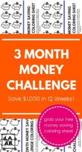 This 3 month savings plan can help you save $1,000 in extra cash for emergencies. Use the simple and free money saving challenge printable and get started today! #savings #frugal #savemoney #moneychallenge #savingschallenge #2019