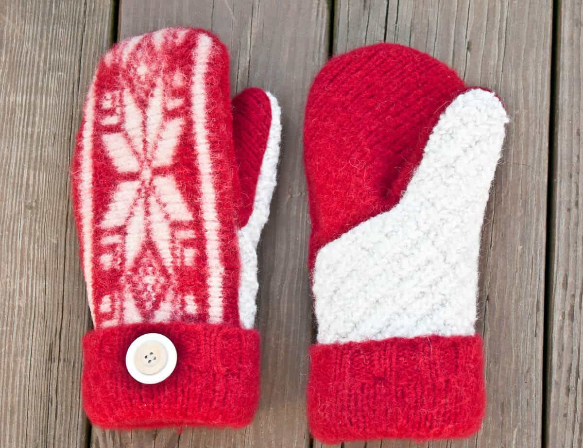 pattern to make mittens from a sweater