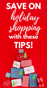 I'm so happy I know these shopping tips for the holidays because I don't want to spend a lot on Christmas gifts. Tip number 5 will certainly help me save BIG! Can't wait to start my Christmas shopping I'm going to save so much money! #holidayshoppingtips #holidayshopping #holiday #holidays #shopping #christmasbudget #christmassavings #debtfreechristmas #savingmoney #savemore #frugalliving #frugalchristmas #frugal