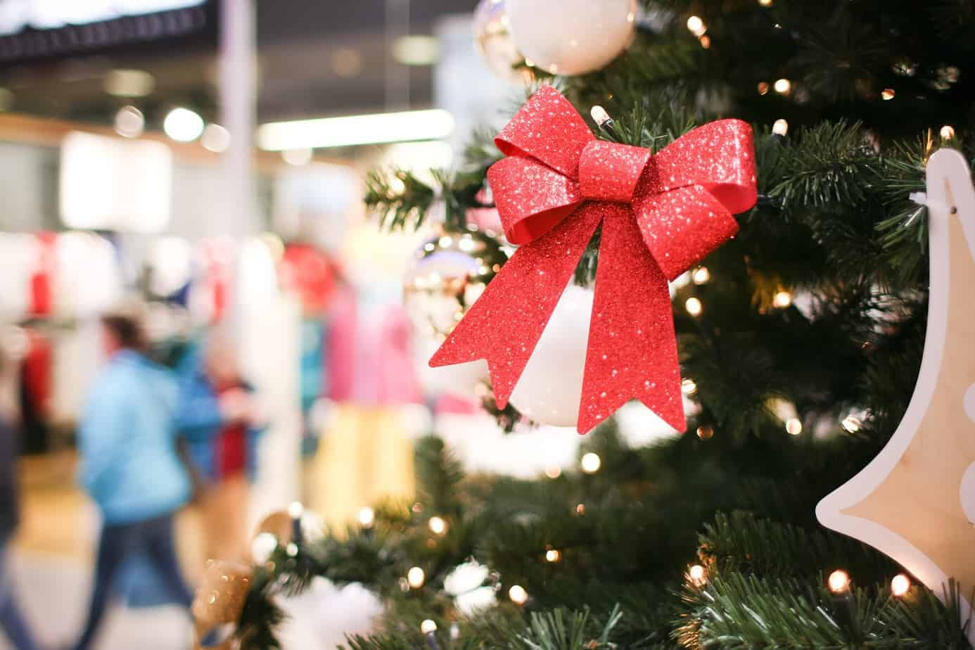 another christmas tree detail in shopping mall picjumbo com