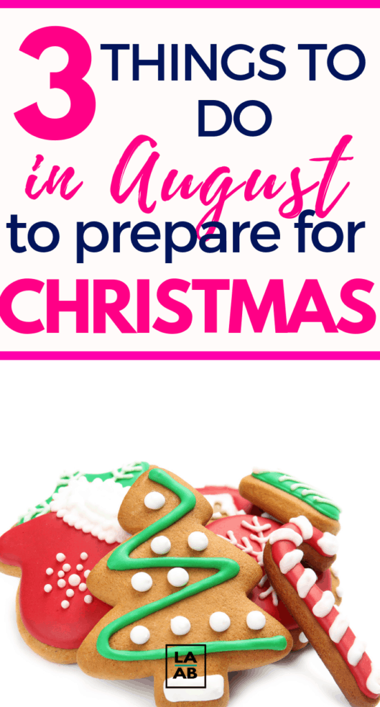 Here are three Christmas preparation ideas you can do to prepare for Christmas in August. #christmasprep #savingmoney #christmasinjuly #christmasideas #frugalchristmas #frugalholiday